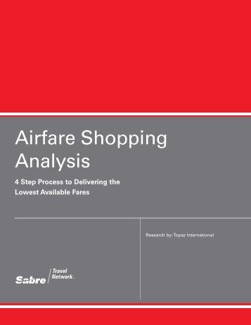 Airfare Shopping Analysis