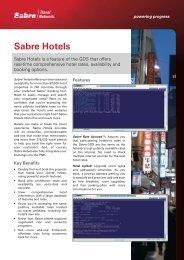 Sabre Hotels