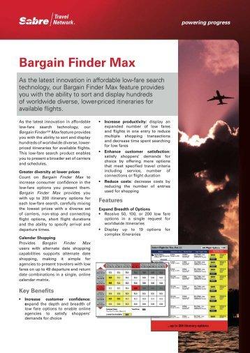 Bargain Finder Max