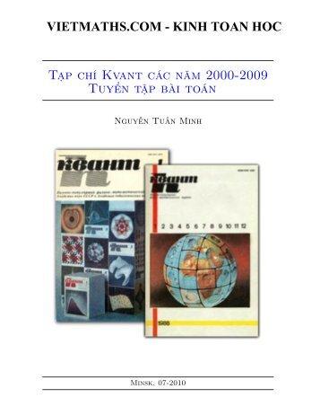 Các bài toán tạp chí Kvant 2012 - Dong Thap in South Vietnam • Portal