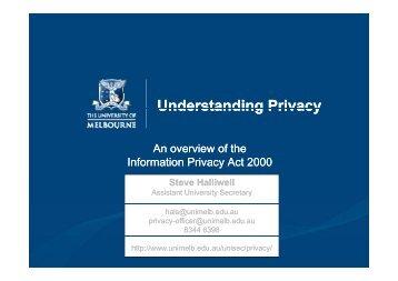 Understanding Privacy
