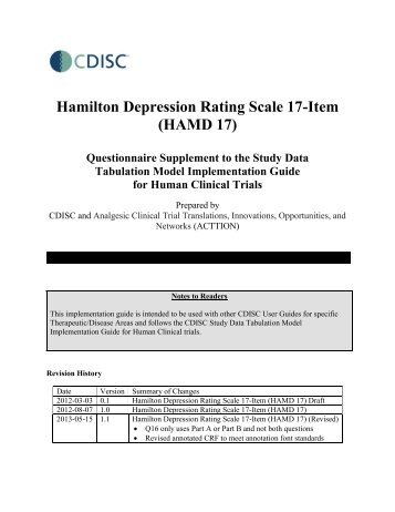 review of hamilton depression rating Calculate is a next-generation clinical calculator and decision support tool freely available to the medical community to date it contains 250+ medical calculators in all manner of.