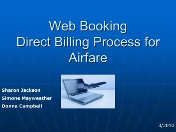 Web Booking Direct Billing Process for Airfare