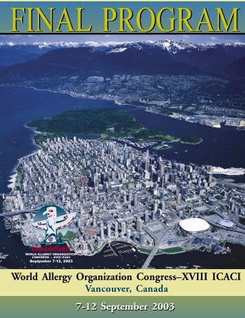 scientific program - World Allergy Organization