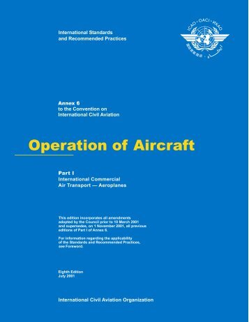 Operation of Aircraft