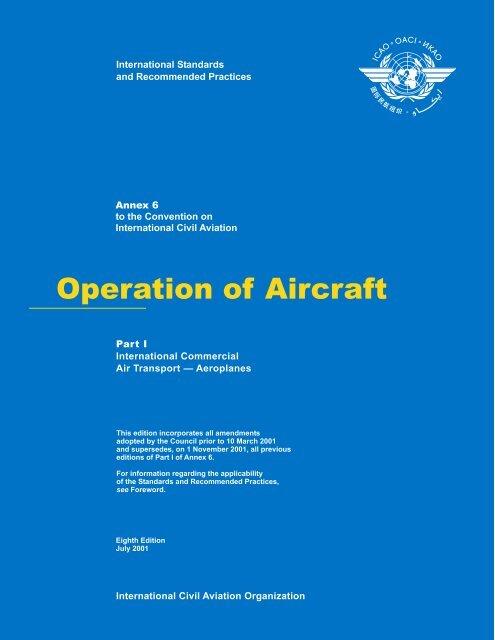 Operation of Aircraft