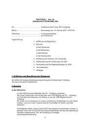 1 Eröffnung und Begrüßung des Obmannes 2 Berichte 1