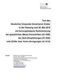 Text des Deutschen Corporate Governance Kodex in der Fassung ...
