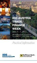 Practical Information ICC AUSTRIA TRADE FINANCE WEEK