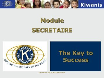SECRETAIRE The Key to Success