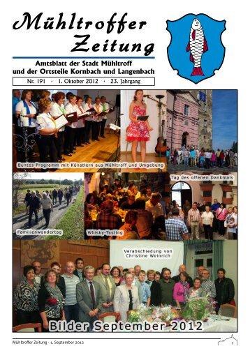 Amtsblatt der Stadt Mühltroff und der Ortsteile Kornbach und ...