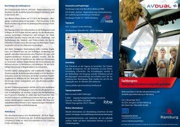 Flyer zum Fachkongress als Download - AvDual