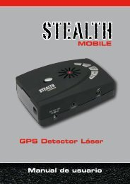 MOBILE GPS Detector Láser Manual de usuario