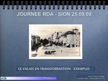 JOURNEE RDA - SION 25.09.09