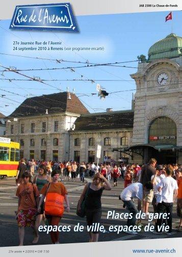 Places de gare espaces de ville espaces de vie