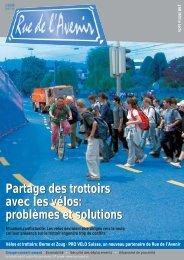 Partage des trottoirs avec les vélos problèmes et solutions