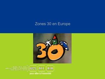 Zones 30 en Europe