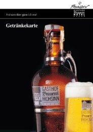 Alkoholfreie Getränke Getränke im Offenausschank