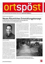 Neues Räumliches Entwicklungskonzept - SPÖ Mittersill