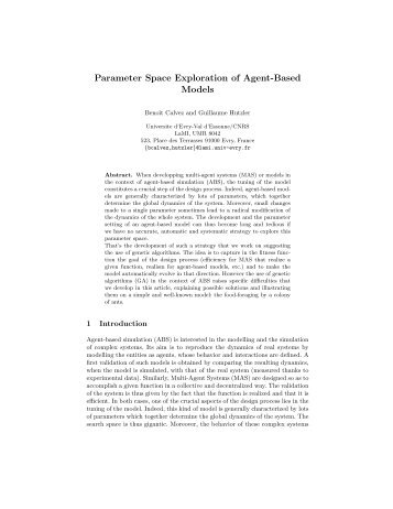 Parameter Space Exploration of Agent-Based Models - IBISC