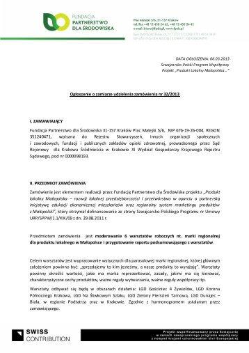 Szczegółowa oferta - Fundacja Partnerstwo dla Środowiska