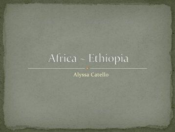 Africa ~ Ethiopia
