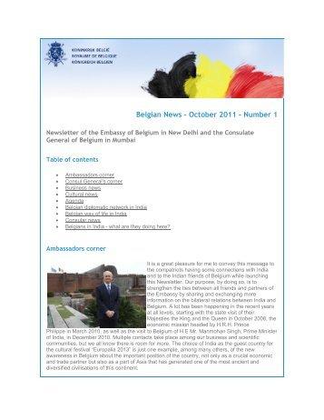 Belgian News - October 2011 - Number 1