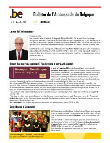 Bulletin de l'Ambassade de Belgique