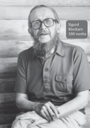 Sigurd Klockare 100 vuotta