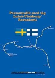 Persontrafik med tåg Luleå-Uleåborg/ Rovaniemi
