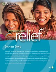 International Relief - (case study)