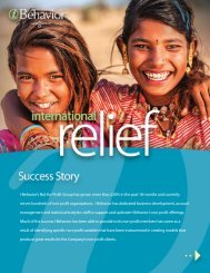 International Relief - Non-Profit Case Study - I-Behavior
