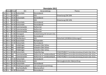 Dienstplan DRK 2012 - Funpic.de