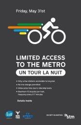 TO THE METRO - Féria du vélo de Montréal