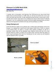 Emerson La Griffe Neck Knife - MDTS Training