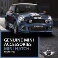 GENUINE MINI accessories MINI hatch