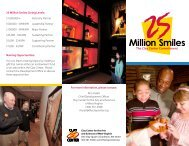 25 Million Smiles Giving Levels: $1,000,000 + ... - Clay Center