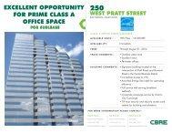 250 West Pratt Street - 19th Floor - CBRE