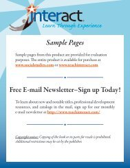Sample Pages Free E-mail Newsletter–Sign up Today!