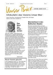 Kosten: Fr. 35.-- pro Person inkl. Bier ... - Verein Unser Bier