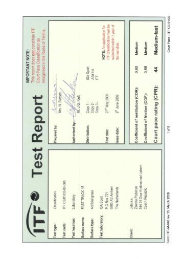 ITF Test Report FAST TRACK 15.pdf - Sonerg