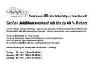 90 Jahre Hutzelmann Klaviere und Flügel – Jubiläumsverkauf vom 27