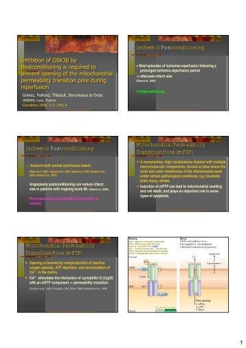 Ischemic Postconditioning Ischemic Postconditioning Ischemic ...