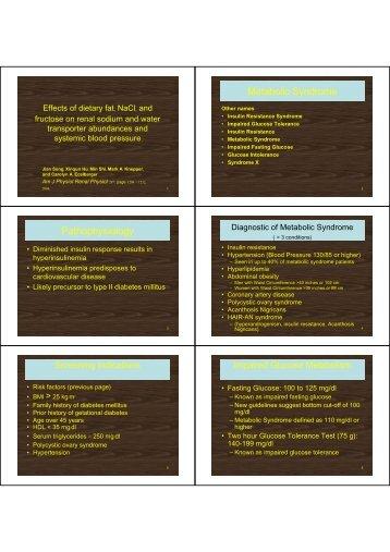 Metabolic Syndrome Pathophysiology