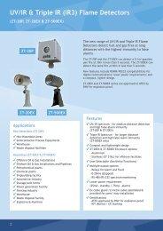 UV/IR & Triple IR (IR3) Flame Detectors