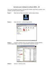 Instruções para instalação do software ZEXEL – ZD - Bosch