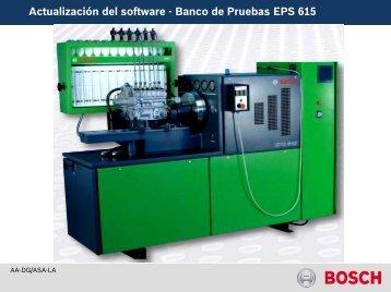 Actualización del software - Banco de Pruebas EPS 615
