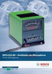 WPG 012.00 – Analisador de alternadores Teste abrangente