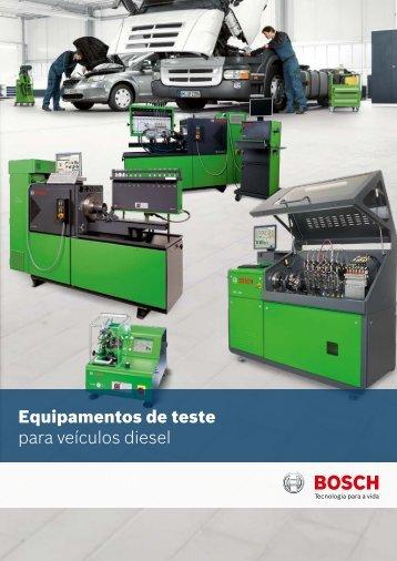 Equipamentos de teste para veículos diesel