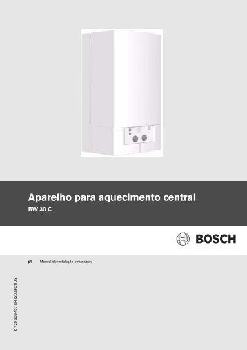 Manual Aparelho para aquecimento central - BW 30AE - Bosch